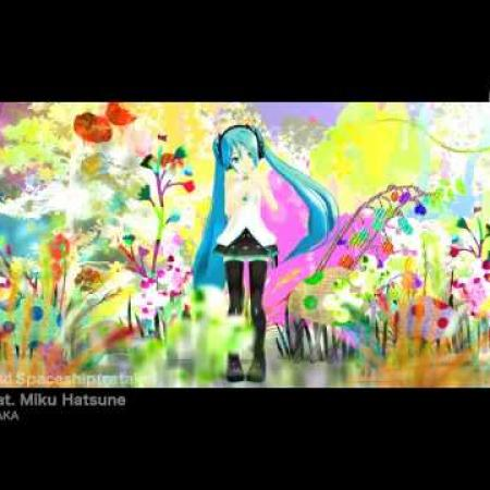 Miku Hatsune - Aqua and Spaceship - MMD
